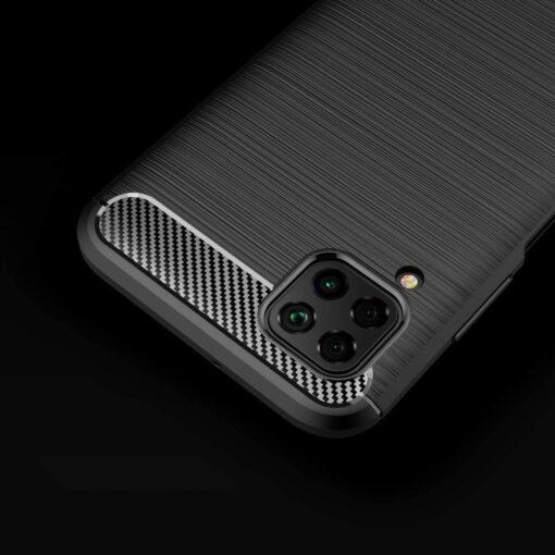 Huawei P40 Lite umbris silikoonist Carbon must 4