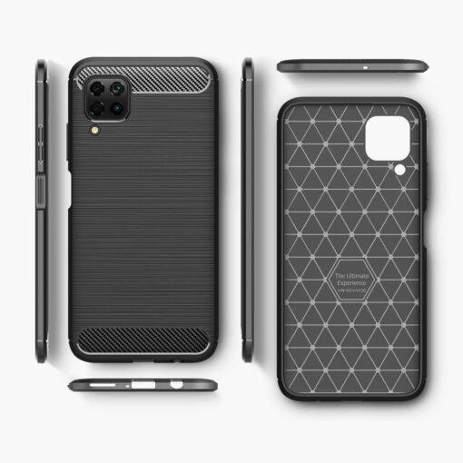 Huawei P40 Lite umbris silikoonist Carbon must 7