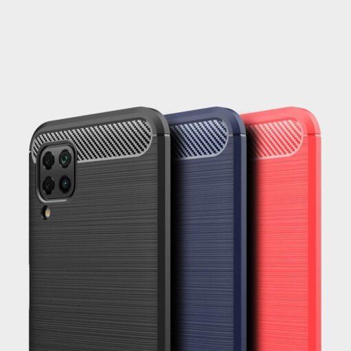 Huawei P40 Lite umbris silikoonist Carbon must 8