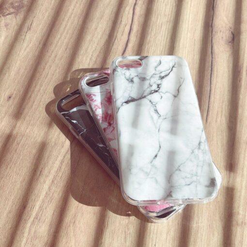 Huawei P40 Lite umbris silikoonist marmori imitatsiooniga must 3