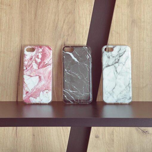 Huawei P40 Lite umbris silikoonist marmori imitatsiooniga must 4