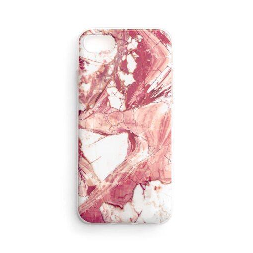 Huawei P40 Lite umbris silikoonist marmori imitatsiooniga roosa