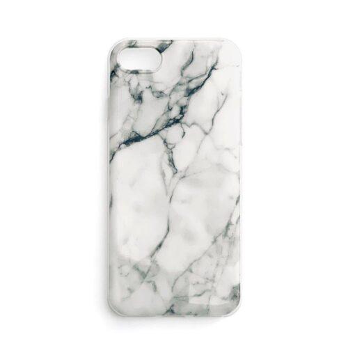 Huawei P40 Lite umbris silikoonist marmori imitatsiooniga valge