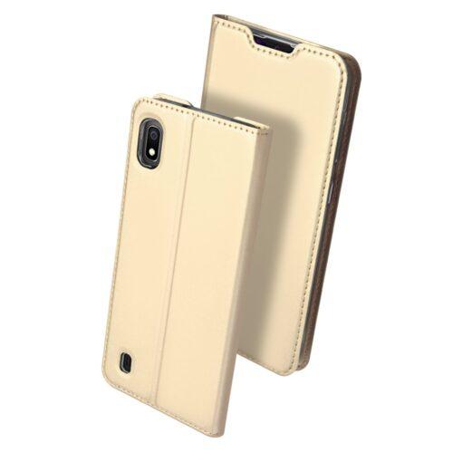 Samsung A10 kunstnahast kaaned DUX DUCIS Skin Pro Bookcase kuldne 1