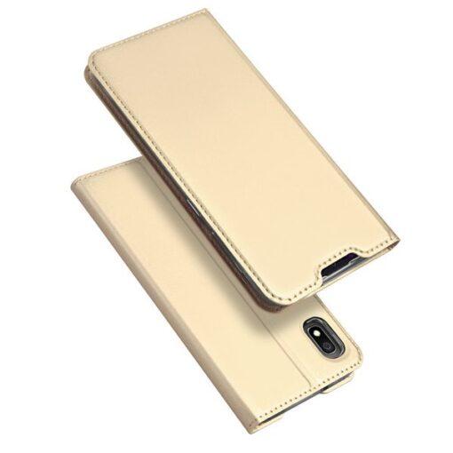 Samsung A10 kunstnahast kaaned DUX DUCIS Skin Pro Bookcase kuldne