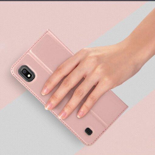 Samsung A10 kunstnahast kaaned DUX DUCIS Skin Pro Bookcase kuldne 6