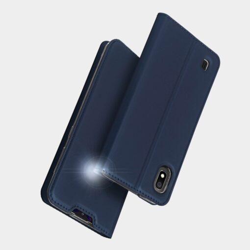 Samsung A10 kunstnahast kaaned DUX DUCIS Skin Pro Bookcase kuldne 9