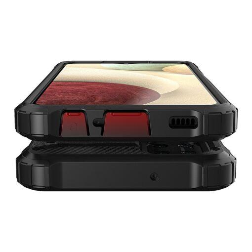 Samsung A12 umbris Hybrid Armor plastikust taguse ja silikoonist raamiga kuldne 8