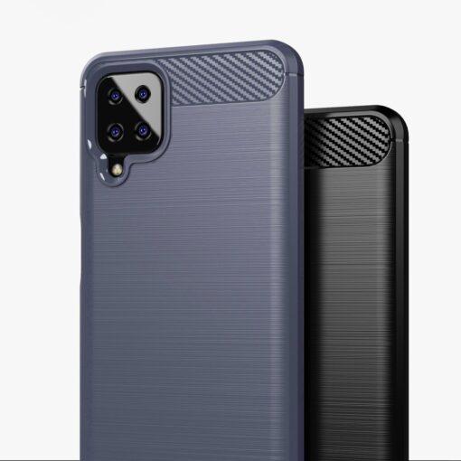 Samsung A12 umbris silikoonist Carbon sinine 1