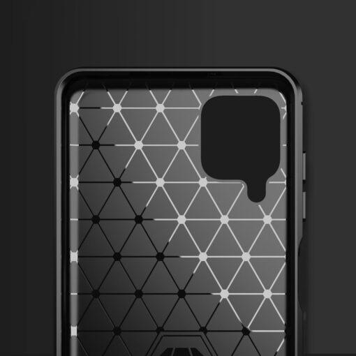 Samsung A12 umbris silikoonist Carbon sinine 2