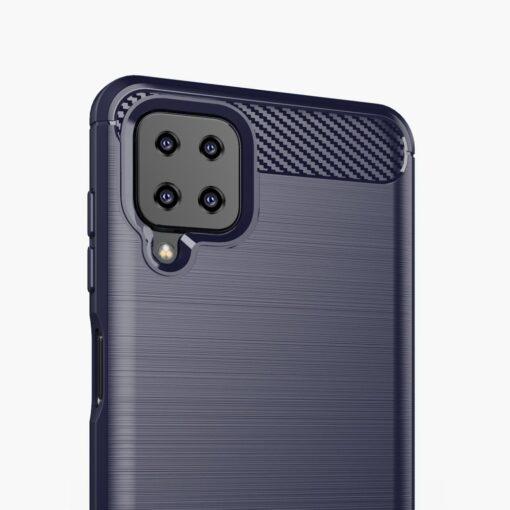 Samsung A12 umbris silikoonist Carbon sinine 3