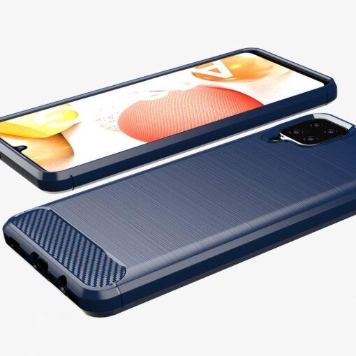 Samsung A12 umbris silikoonist Carbon sinine 4