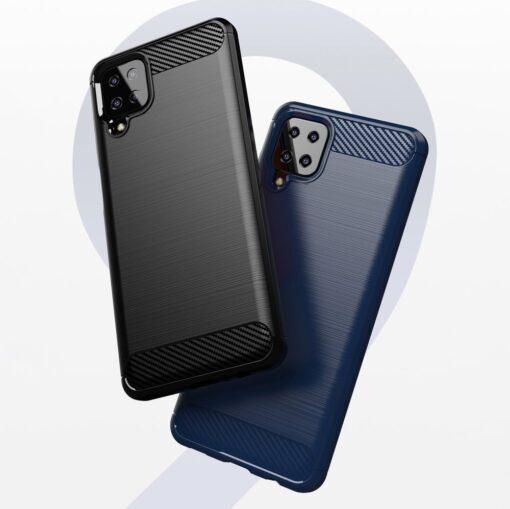 Samsung A12 umbris silikoonist Carbon sinine 5