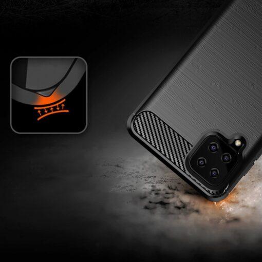 Samsung A12 umbris silikoonist Carbon sinine 6