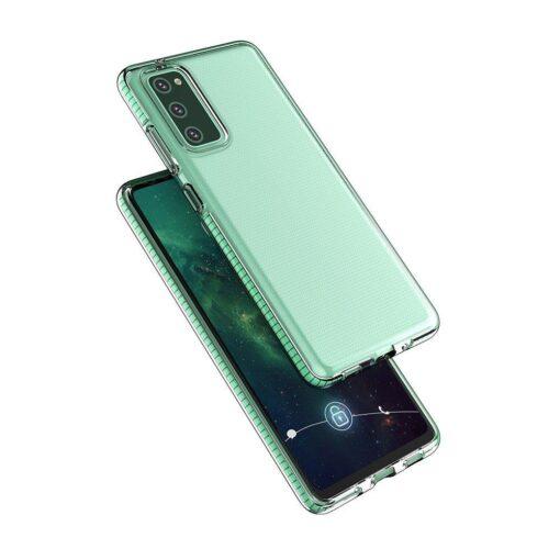 Samsung A12 umbris silikoonist varvilise raamiga roosa 2