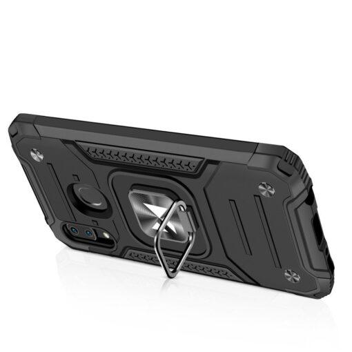 Samsung A20e tugev umbris Ring Armor plastikust taguse ja silikoonist nurkadega must 3