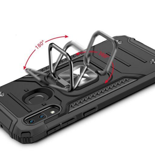 Samsung A20e tugev umbris Ring Armor plastikust taguse ja silikoonist nurkadega must 4