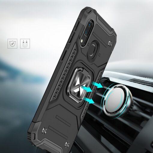 Samsung A20e tugev umbris Ring Armor plastikust taguse ja silikoonist nurkadega must 5