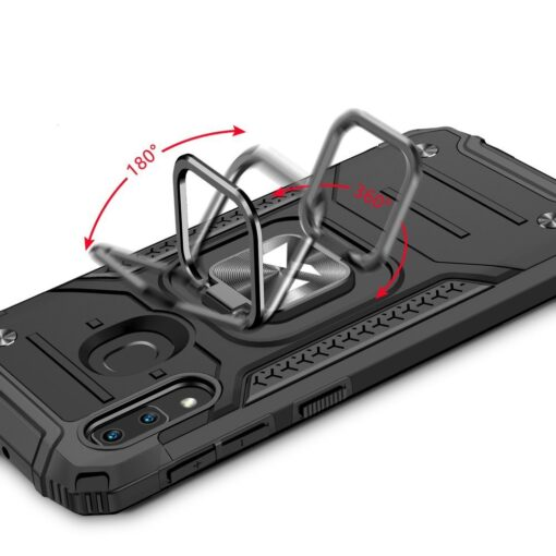 Samsung A20e tugev umbris Ring Armor plastikust taguse ja silikoonist nurkadega sinine 4