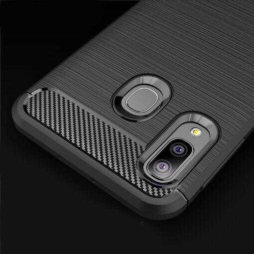 Samsung A20e umbris silikoonist Carbon must 4