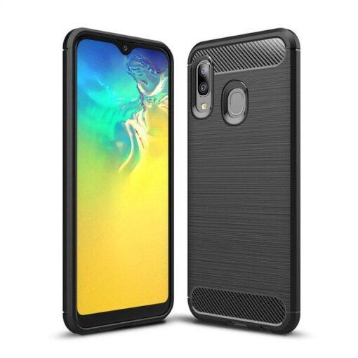 Samsung A20e umbris silikoonist Carbon must