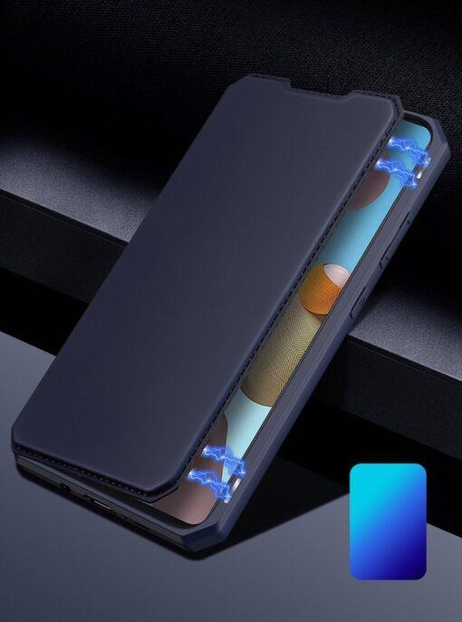 Samsung A21S kunstnahast kaaned kaarditaskuga DUX DUCIS Skin X must 11
