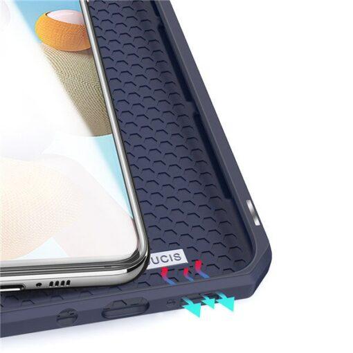 Samsung A21S kunstnahast kaaned kaarditaskuga DUX DUCIS Skin X must 2