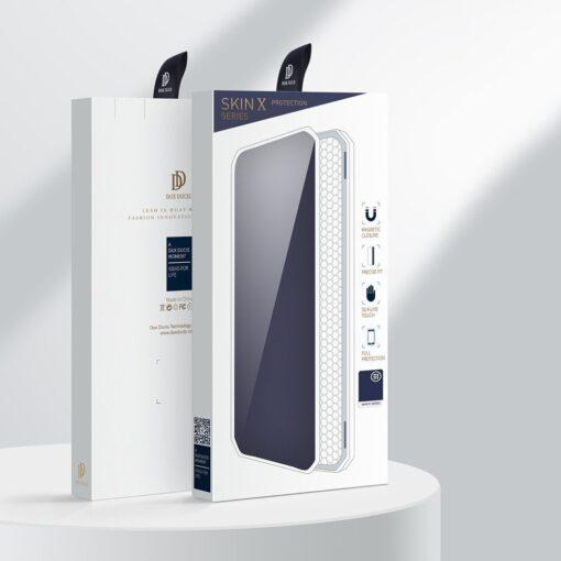 Samsung A21S kunstnahast kaaned kaarditaskuga DUX DUCIS Skin X must 4