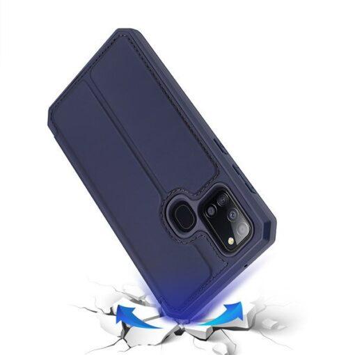 Samsung A21S kunstnahast kaaned kaarditaskuga DUX DUCIS Skin X must 6