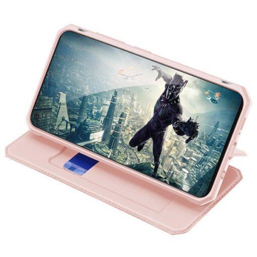 Samsung A21S kunstnahast kaaned kaarditaskuga DUX DUCIS Skin X must 7