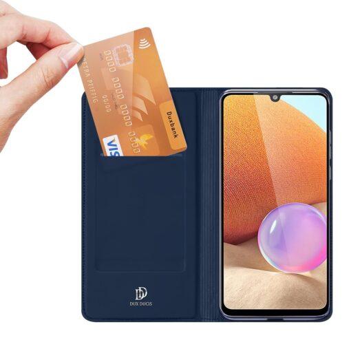 Samsung A32 4G kunstnahast kaaned DUX DUCIS Skin Pro Bookcase sinine 1