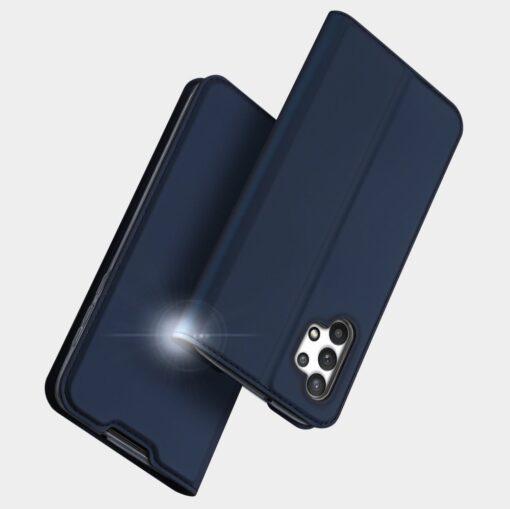 Samsung A32 4G kunstnahast kaaned DUX DUCIS Skin Pro Bookcase sinine 10