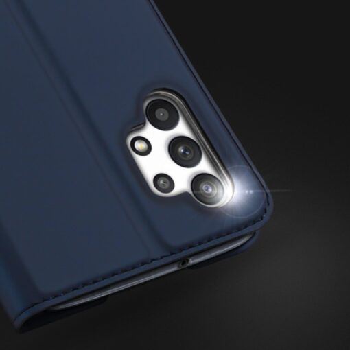 Samsung A32 4G kunstnahast kaaned DUX DUCIS Skin Pro Bookcase sinine 11