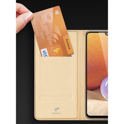 Samsung A32 4G kunstnahast kaaned DUX DUCIS Skin Pro Bookcase sinine 13