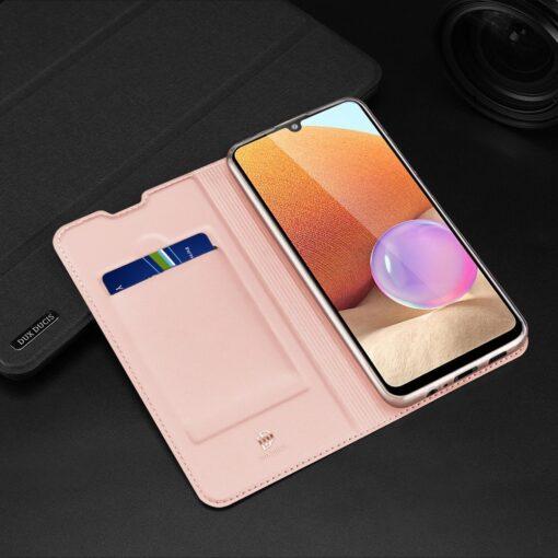 Samsung A32 4G kunstnahast kaaned DUX DUCIS Skin Pro Bookcase sinine 14