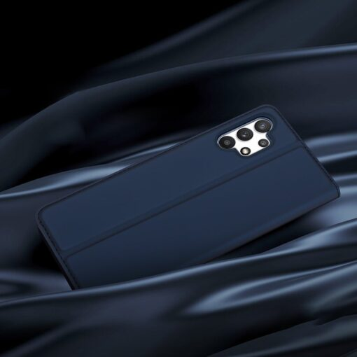 Samsung A32 4G kunstnahast kaaned DUX DUCIS Skin Pro Bookcase sinine 18