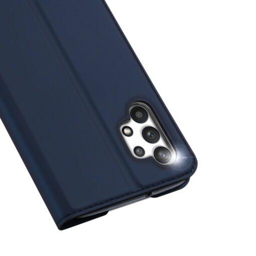 Samsung A32 4G kunstnahast kaaned DUX DUCIS Skin Pro Bookcase sinine 2