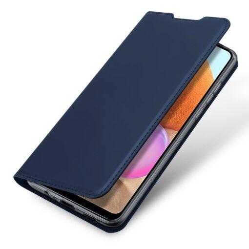 Samsung A32 4G kunstnahast kaaned DUX DUCIS Skin Pro Bookcase sinine 3