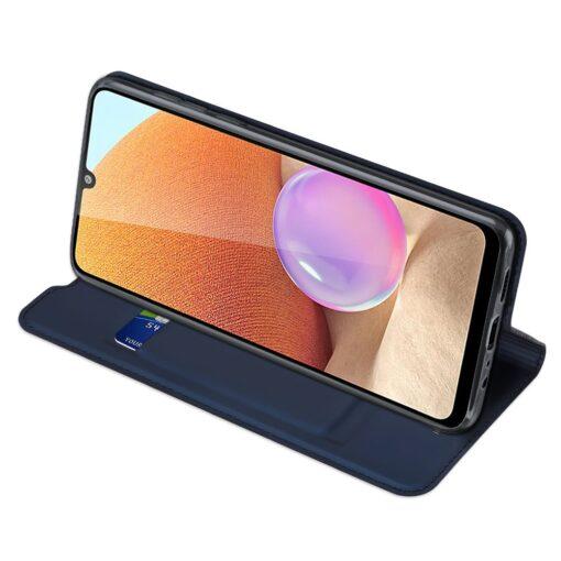 Samsung A32 4G kunstnahast kaaned DUX DUCIS Skin Pro Bookcase sinine 5