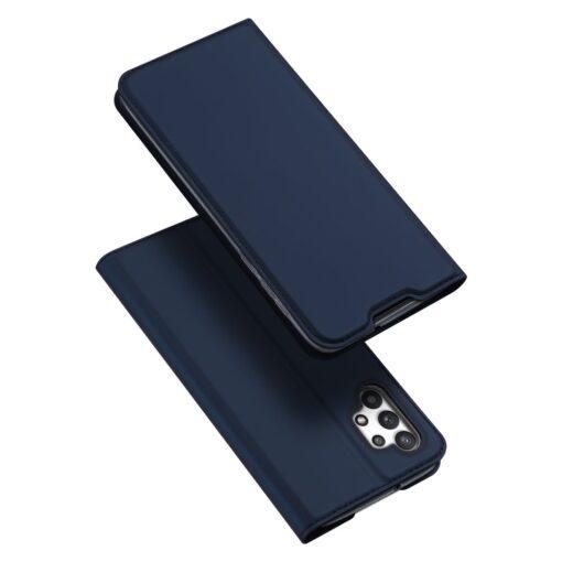 Samsung A32 4G kunstnahast kaaned DUX DUCIS Skin Pro Bookcase sinine