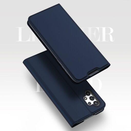 Samsung A32 4G kunstnahast kaaned DUX DUCIS Skin Pro Bookcase sinine 9