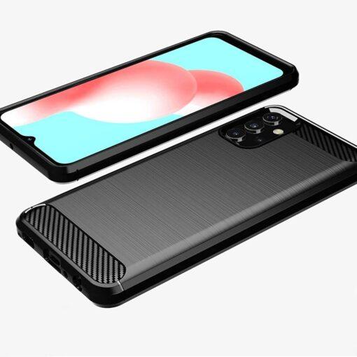 Samsung A32 4G umbris silikoonist Carbon must 1
