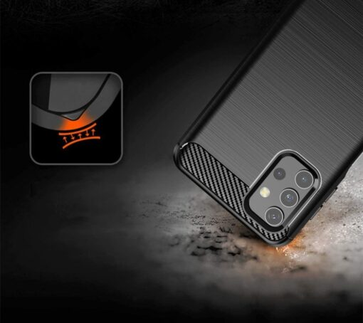 Samsung A32 4G umbris silikoonist Carbon must 3