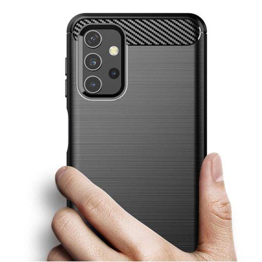 Samsung A32 4G umbris silikoonist Carbon must 5