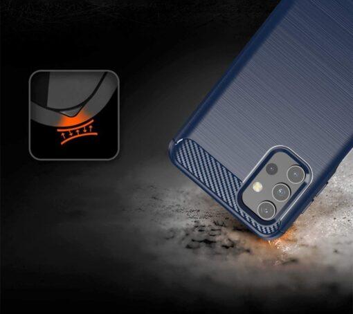 Samsung A32 4G umbris silikoonist Carbon sinine 1
