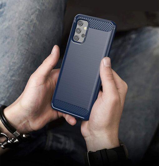 Samsung A32 4G umbris silikoonist Carbon sinine 2