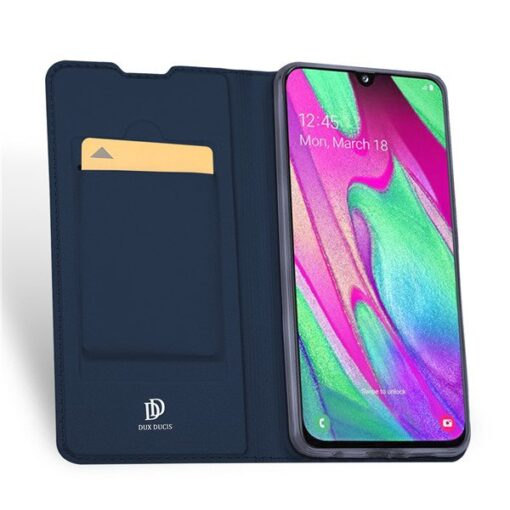 Samsung A40 kunstnahast kaaned DUX DUCIS Skin Pro Bookcase kuldne 2