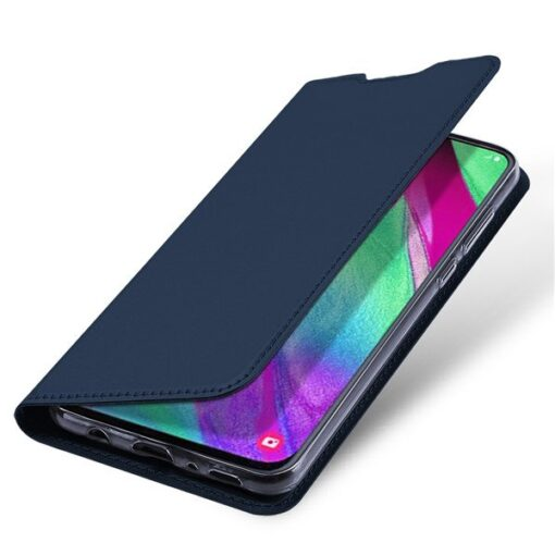 Samsung A40 kunstnahast kaaned DUX DUCIS Skin Pro Bookcase roosa 3