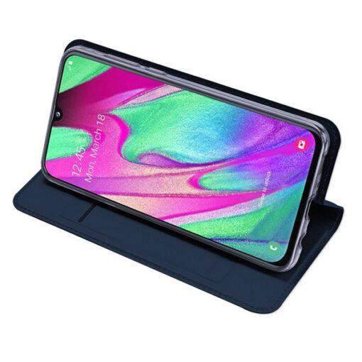 Samsung A40 kunstnahast kaaned DUX DUCIS Skin Pro Bookcase roosa 4