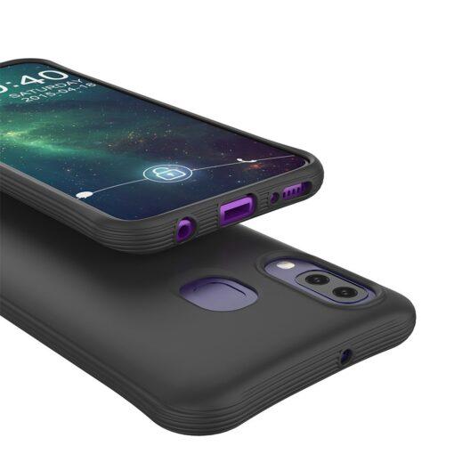 Samsung A40 tugevdatud nurkadega silikoonist umbris must 3